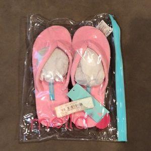 db9f3ead5 MELLA Shoes - MELLA Pink Terry Flip Flops - Size M (7 8)